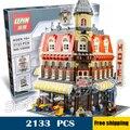 2133 unids nuevo 15002 marca y crear en la esquina del café salón diy bloques de construcción modelo de elementos únicos juguetes compatibles con lego