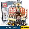 2133pcs New 15002 Make & Create Cafe Corner Hall DIY Model Building Blocks unique elements Toys Compatible with Lego