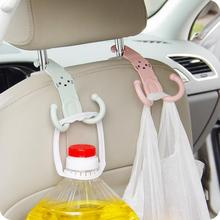 Cute Headrest Hook Car Seat Hanger Cartoon Design Plastic Stand Hanger Bag Holder Cute Parts Accessories(China (Mainland))