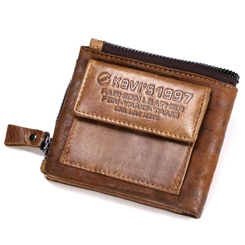 КАВИС Crazy Horse из натуральной кожи кошелек Для мужчин кошелек Portomonee портфель магия мужской Cuzdan держатель для карт Perse модные Gidt для мужчин