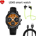 Lemfo LEM5 Smart Watch phone Android 5.1 MTK6580 Quad Core 1 ГБ + 8 ГБ Smartwatch Шагомер Heart Rate Monitor для Android IOS Телефон