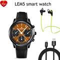 Lemfo LEM5 Smart Watch phone Android 5.1 MTK6580 Quad Core 1 ГБ + 8 ГБ Smartwatch Шагомер Heart Rate Monitor для Android IOS Телефон