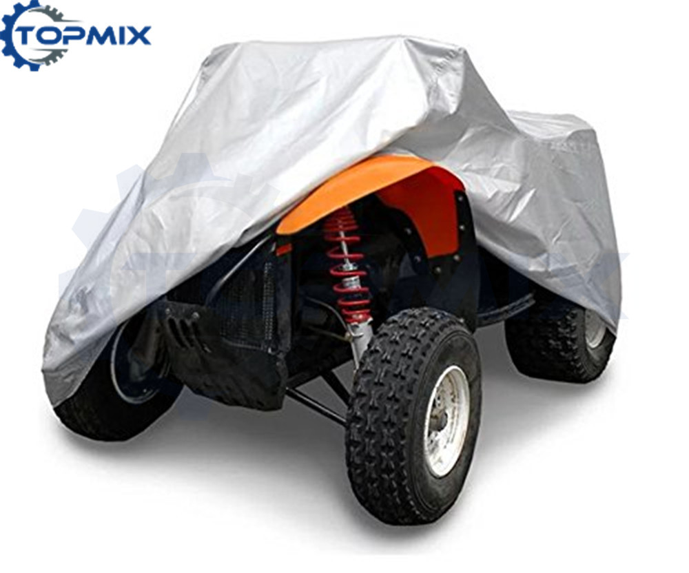 190T Outdooor Camping Beach Quad Bike ATV Cover Waterproof Sunproof Dustproof Anti-UV Car ATV Kart Silver Cover M/L/XL/XXL/XXXL