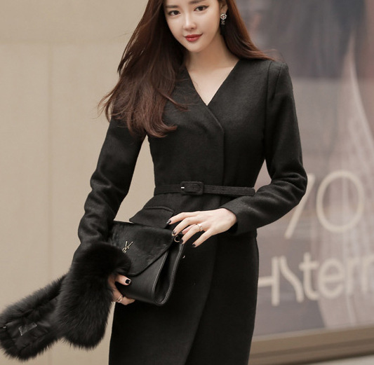 Online Buy Wholesale womens long winter dress coats from China