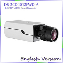fast free shipping 2014 New 1.3MP WDR Smart Face Detection & Two Way Talk Smart IPC English Version  DS-2CD4012FWD-A