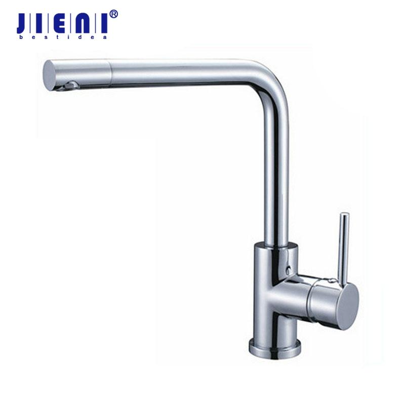Chrome Brass 360 Swivel Spout Taps Deck Mounted Vessel Sink Mixer Tap Kitchen Basin Sink Faucet Hot & Cold Mixer цена