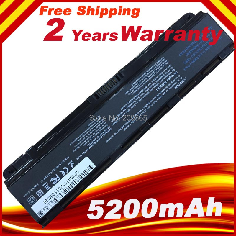 Laptop Battery For Toshiba Satellite C50T C55 C70 C75D PA5108U-1BRS PA5109U-1BRS PA5110U-1BRS PABAS271 PABAS272