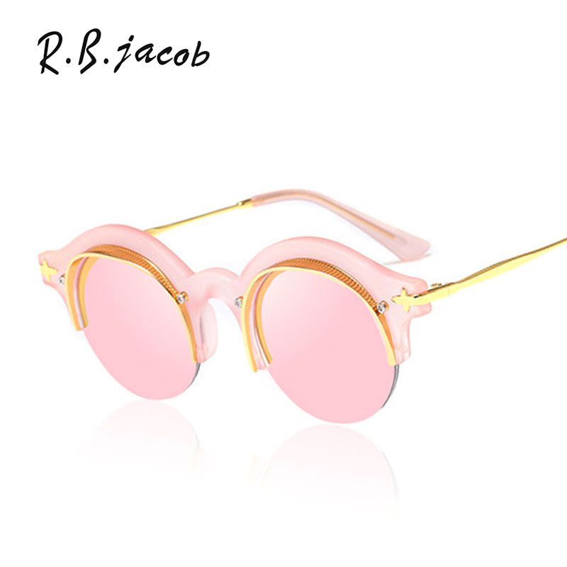 2017 New Summer Sunglasses Women Men UV400 Small Size Round Brand Designer Mirror Lady Sun Glasses High Street Round culos