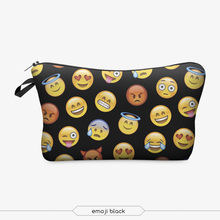 Who Cares Funny Emoji Face Monkey 3D Print Cosmetic Wash Bag Women Neceser Maquillaje Bag Travel Toiletry Organizer Makeup Bag