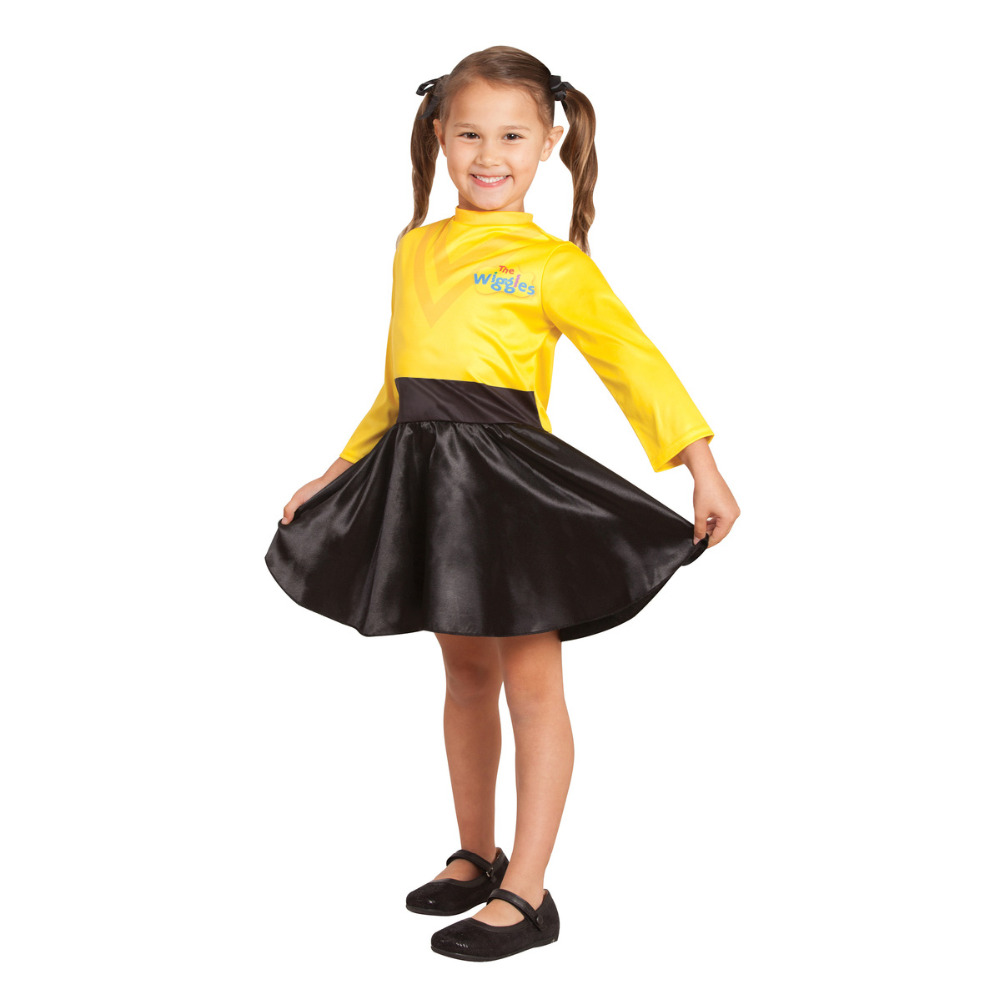 2019 NewDress Up Emma Costume Wiggles  Yellow And Black Dress Outfit Princess Costume Yellow Ballet Tutu
