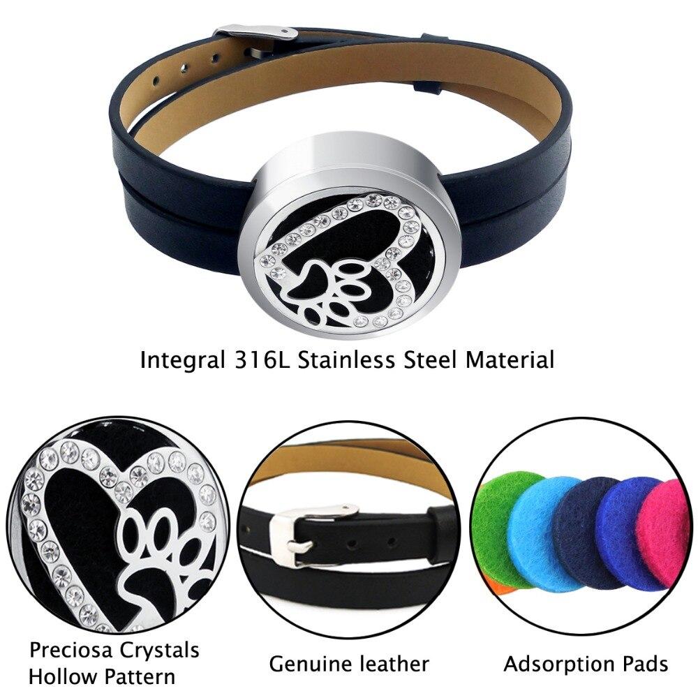ZP-BS504-0 Diffuser Leather Locket Bracelet-4