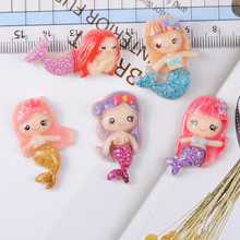 Resin Cute Mini Flash-powder Mermaid Super Light Clay Charms for DIY Slime Supplies Glue for Clay Accessories Crystal Mud Filler(China)