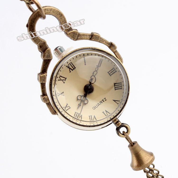 Dropshipping Antique Vintage Big Glass Ball Bull Eye Necklace Quartz Pocket Watch Gift UK P10