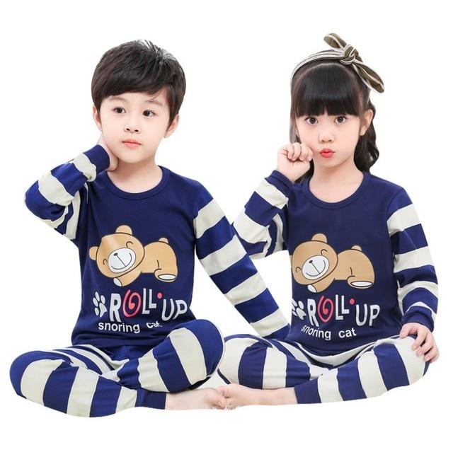 8d7a1cbb3 New Autumn garcon christmas pyjamas kids Full Sleeve Girls sleepwear ...