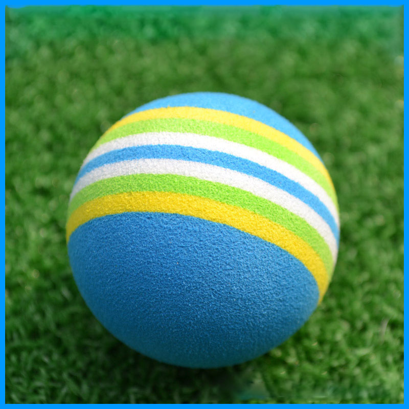20 pcs/Pack Indoor Outdoor Safely Training Practice Golf Sports Elastic Sponge Balls Light Rainbow Golf Game Balls