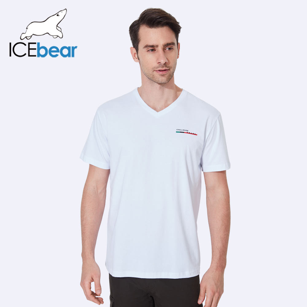 ICEbear 2017 New Design Summer Thin Solid Short Sleeve Breathable Comfortable Top Quality Elastic Sort t-Shirt Men 37305D
