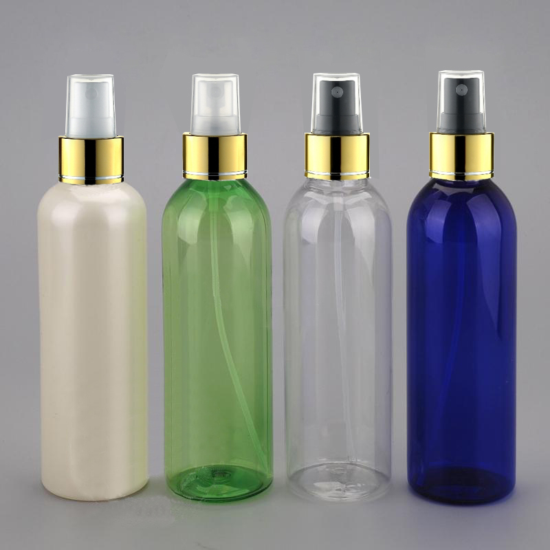 30pcs 200ml transparent pearl blue green round spray bottle mini spray perfume bottles refillable bottles
