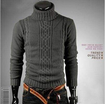Moda para hombre de invierno suéteres y jerseys de cuello alto Homme ...