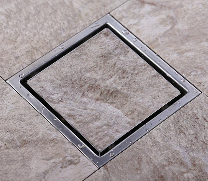 Tile Insert Square Floor Waste Grates Bathroom Shower Drain 150 x 150MM,304 Stainless steel free shipping 304 stainless steel 11 x 11cm bathroom tile insert square shower bathroom floor drain dr124