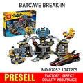 Lepin 07052 Nuevo 1047 Unids Genuino Serie de Películas de Batman 70909 Baticueva Break-in Building Blocks Ladrillos Juguetes Educativos