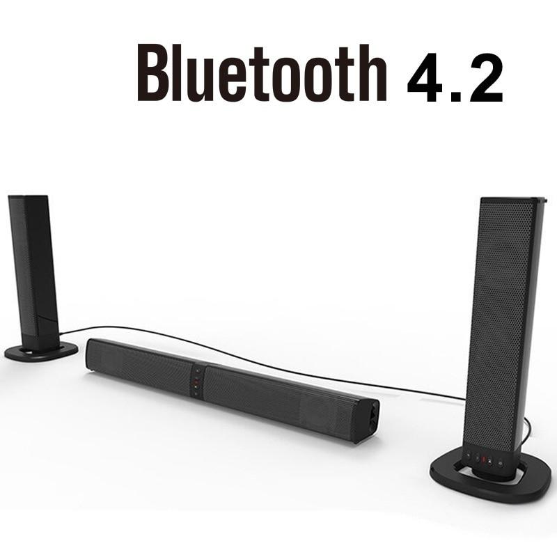 Nouveau haut-parleur de barre de son sans fil détachable 20 W FM Bluetooth 4.2 colonne barre de son stéréo TV haut-parleurs Home cinéma 2000 mAh barre de son