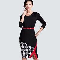 2016 Summer New Arrival Sleeveless S XXL Knee Length Dresses Women Casual Black Grid Dresses B290