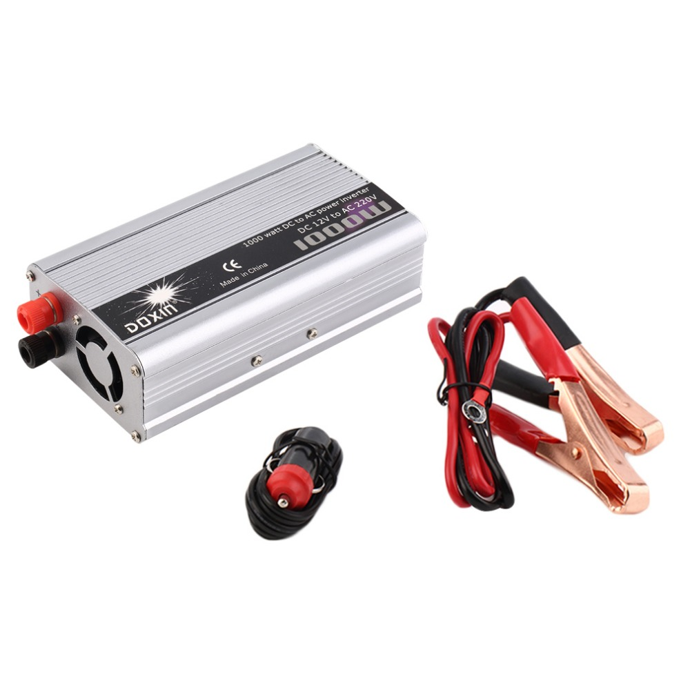 1000w watt dc 12v to ac 220v portable usb car power inverter adapter charger voltage converter