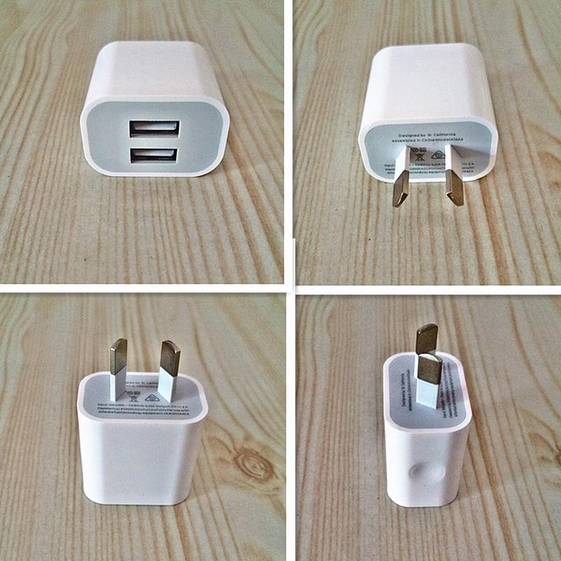 USB-адаптер питания NOTOW с двумя интерфейсами, 5 В, 2 А
