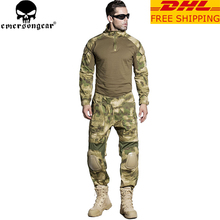 EMERSONGEAR Gen2 BDU Combat Uniform Tactical Shirt Pants with Elbow Knee Pads Military Camouflage Hunting Clothes ATFG EM6922