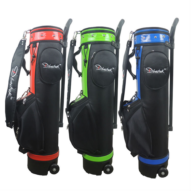 Free shipping 2017 NEW Dbaihuk golf ball bag Nylon golf ball bag with wheel Super Anti-Friction golf ball sample display case