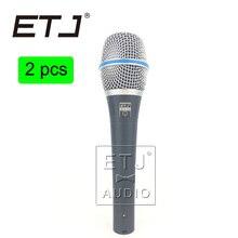 Beta 87A ETJ Marca 2 pcs atacado de Alta Qualidade Clear Sound Handheld Com Fio Microfone de Karaokê