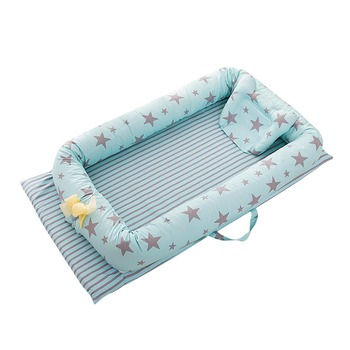 Portable Foldable Baby Crib Newborn Sleep Cotton Bed baby in Car safety Nest soft Cradle Baby Nest Bed Travel  Crib Fence Bed 1