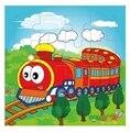 1Pcs Kids toys cartoon wooden Puzzle educational toy for children Fire truck juguetes educativos