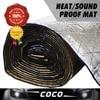 CAR Auto 10mm 50cm 100cm ALUMINUM FOIL Heat Proof INSULATION Exhaust Muffler BLANKET SOUND HEAT Control