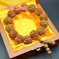 5 шт. высокое качество 18 мм рудракши мода мужчины молитва мала прядь браслеты буддизм ювелирные изделия