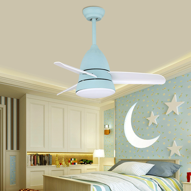 US $162.66 33% OFF|Modern Kids Ceiling Fan Light Simple Children Bedroom  Ceiling Fan with LED Light and Remote Control Several Mold for Selection-in  ...