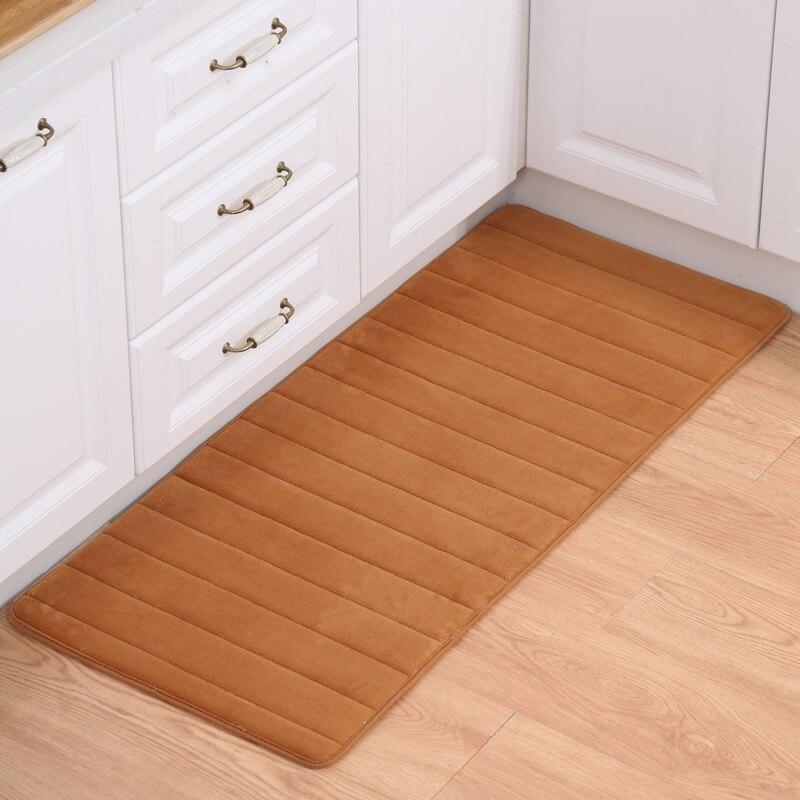 US $6.11 29% OFF|Memory Foam Bathroom Bath Mats Soft Bedroom Carpets  Bedside Mats Anti Slip Home Doormats Kitchen Rugs Coffee Table Floor  Mats-in ...