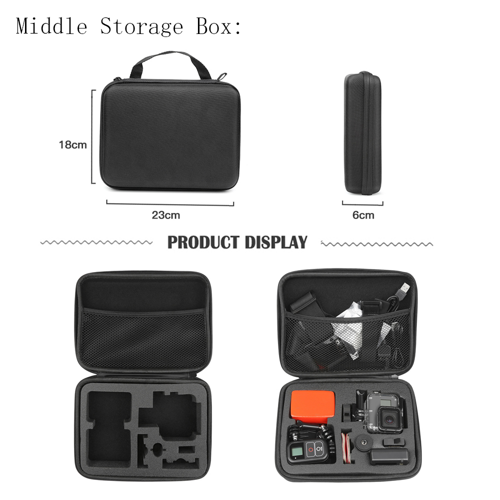 SHOOT Large/Middle/Small Size Collection Case for GoPro Hero 9 8 7 Black Xiaomi Yi 4K Sjcam Sj4000 Eken Box for Go Pro Accessory