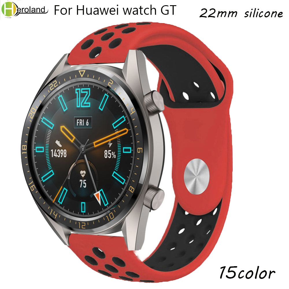 22MM Silicone Watch Strap Band  For Huawei Watch GT Sport WatchBands For Samsung Gear S3 Frontier Classic Smartwatch Accessories