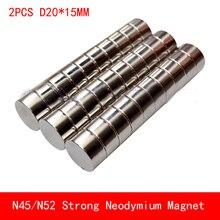 2PCS N45 N52 round magnet D20x15mm Super powerful rare earth neodymium magnets diameter 20*15mm