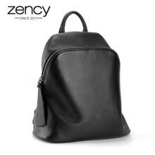 Лидер продаж 100% Высокое качество Пояса из натуральной кожи черный Для женщин рюкзак для девочек школьная сумка женская сумка для ноутбука Mochila