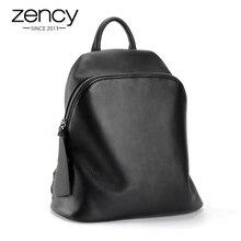 Hot Sale 100 High Quality Genuine Leather Black Women s Backpack Knapsack Rucksack Girl School Bag