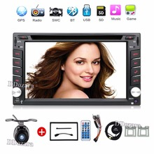 2 din New universal Car Radio Double 2 din Car DVD Player GPS Navigation In dash Car Stereo video Free Map Camera car multimedia