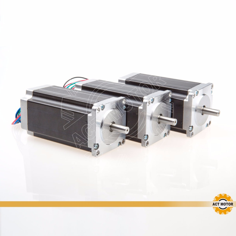 Free ship from Germany!ACT Motor 3PCS Nema23 Stepper Motor 23HS2442 Single Shaft 4-Lead 425oz-in 112mm 4.2A 8mm-Diameter Bipolar free ship from germany act 3pcs nema34 stepper motor 34hs1456b dual shaft 4 lead 1232oz in 118mm 5 6a 3pcs driver dm860 7 8a 80v