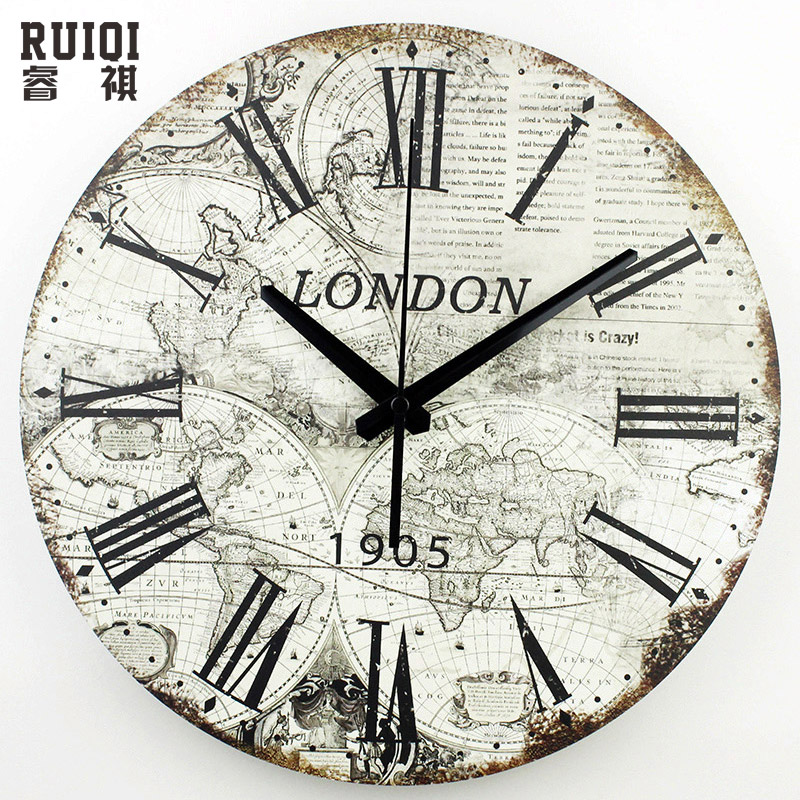 World map large decorative wall clock modern design fashion silent world map large decorative wall clock modern design fashion silent meeting room wall decor clocks home decoration watch wall in wall clocks from home gumiabroncs Image collections