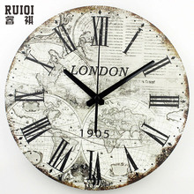 world map large decorative wall clock modern design fashion silent meeting room wall decor clocks home decoration watch wall