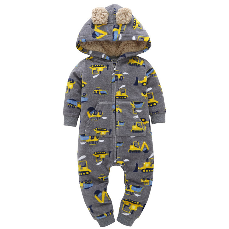 Baby Rompers Winter Baby Boy Clothes Cotton Baby Girl Clothes Hooded Newborn Baby Clothes Roupas Bebe Warm Kids Clothes baby rompers halloween baby girl clothes spring newborn baby clothes cotton baby boy clothing roupas bebe infant jumpsuits