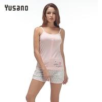 Yusano 2017 Unicorn Pajamas Set For Women Grey Pink Camisole Sleeveless Sleepwear Sexy Print Buttom Tops