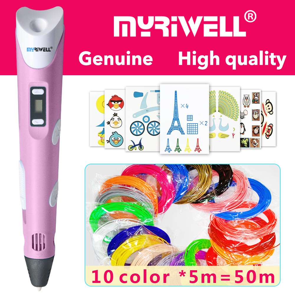 myriwell 3d pen 3d pens,LED display,ABS/PLA Filament,3 d pen 2018 Smart3d printed pen Best Gift for Kids3d print pen3d model myriwell 3d pen led display 1 75mm pla filament abs 3d pens 3 d pen 3d handle smart child birthday gift toys abs plastic