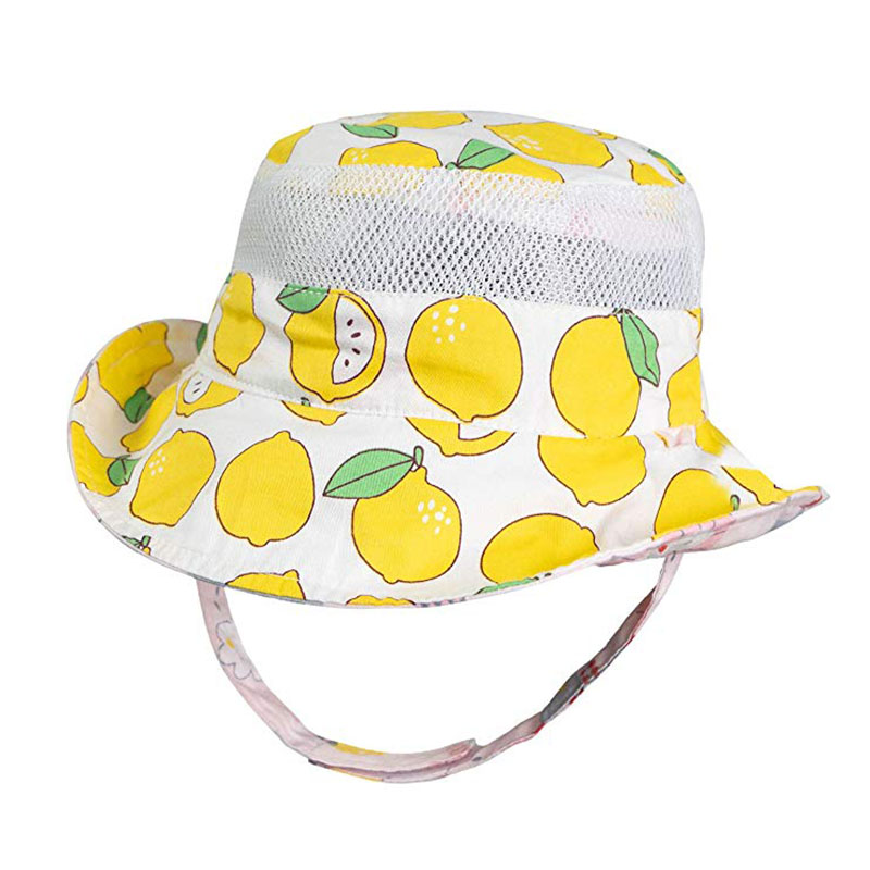 Baby Sun Hat UPF 50 Sun Protection Cotton Bucket Hat Reversible for Toddler Boys Girls